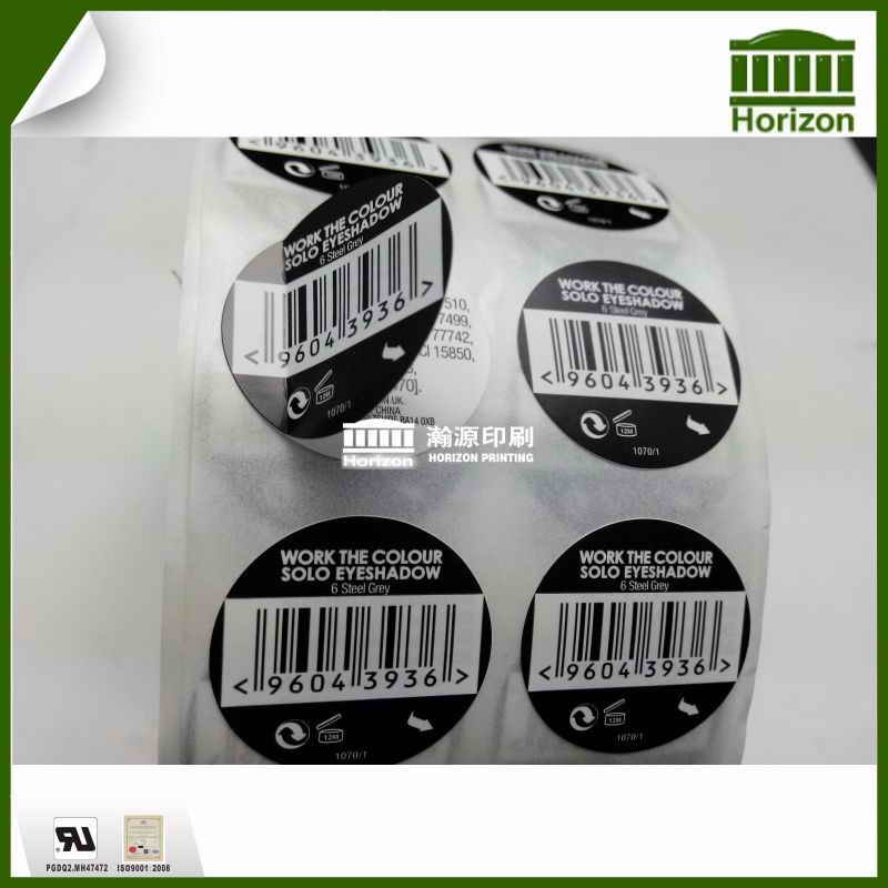 Double-layer self-adhesive label