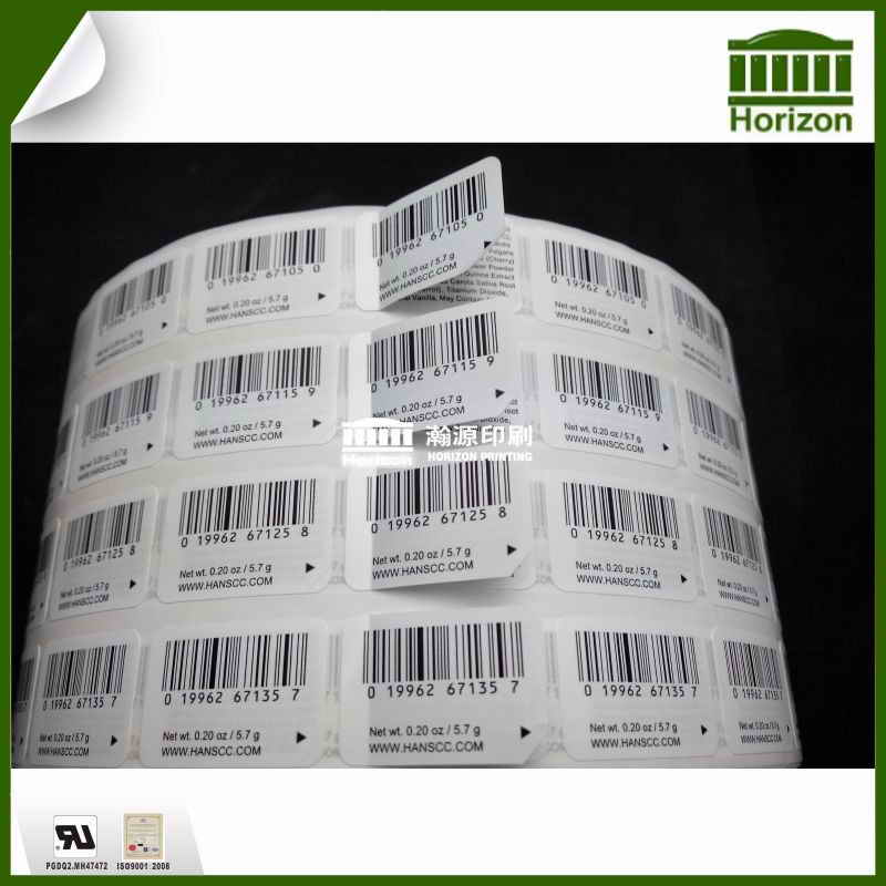 Double layer printed sticker label